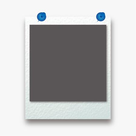 poloroid: photo frame isolated on white background. illustration.