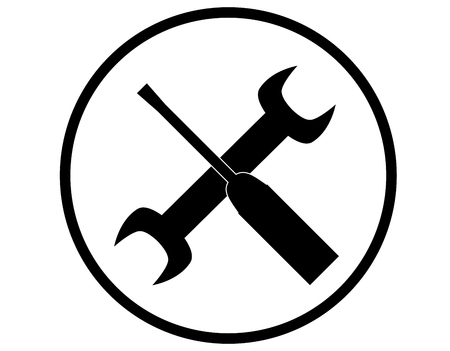 tools icon over white.
