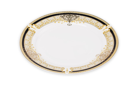 backgroud: Empty plate on the white backgroud Stock Photo