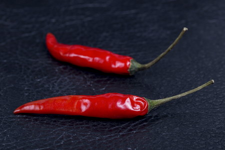 chiles secos: Red hot chili pepper