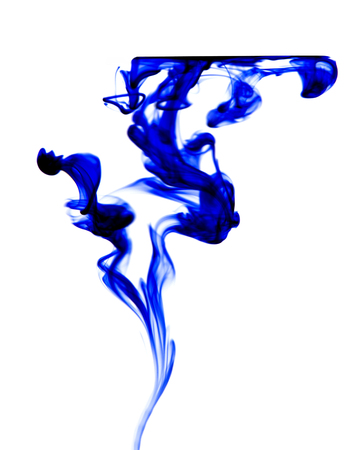 Abstract image of ink flowing in water to make an interesting and unique image.