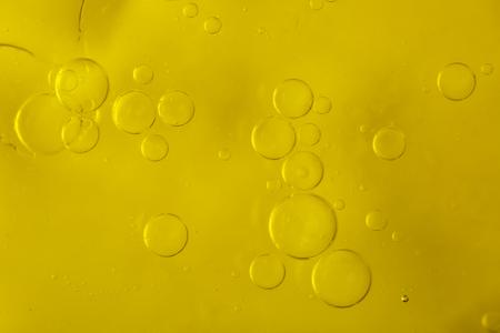 Bubbles of water in olive-oil Stok Fotoğraf