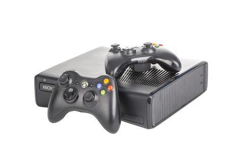 黒マイクロソフト xbox ゲーム コント ローラー。 報道画像