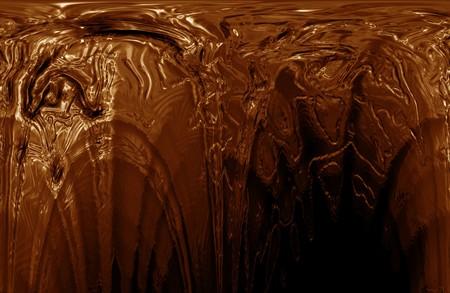 Hot chocolate texture close up.