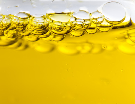 Macro of oil drops, abstract macro background.