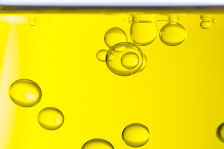 Macro of oil drops, abstract macro background. Stock Photo