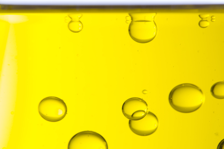 Macro of oil drops, abstract macro background. Stock Photo