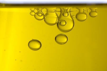 Macro of oil drops, abstract macro background. Stock Photo - 81779252