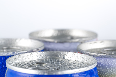 Closeup of cold beer with condensation water droplets.
