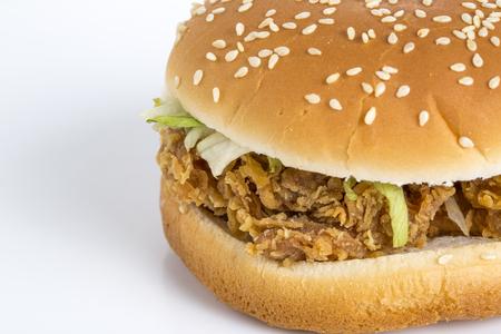 Burger closeup view