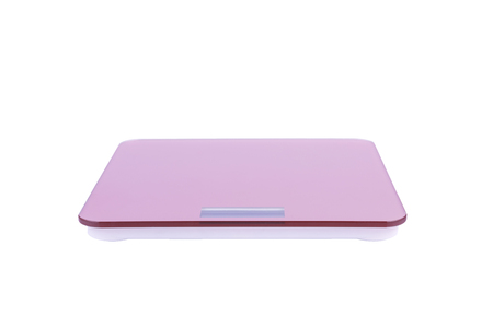 A pink weight Electronic scale