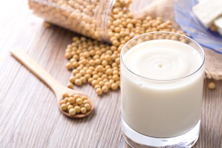 Soya bean milk, soya bean and tofu