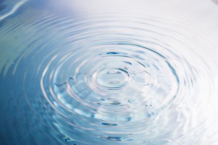 Water drop or water ripples. Waves of rippling water.
