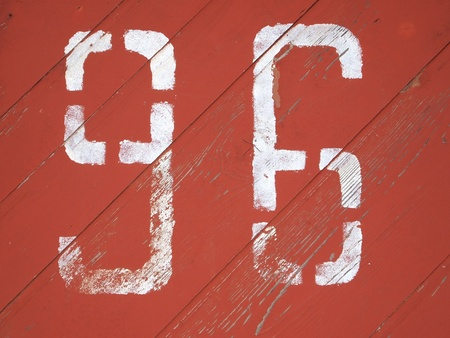 number 96 painted on a colored wood texture background pattern  photo
