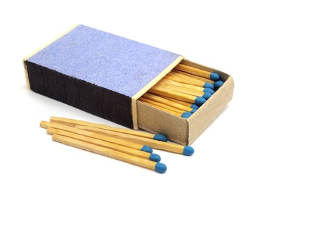 match in a box on a white background     photo