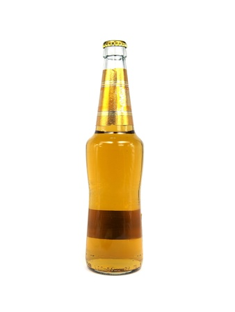 wallop: beer in bottle on a white background