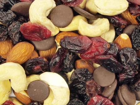 pasas: frutos secos con pasas de uva de fondo