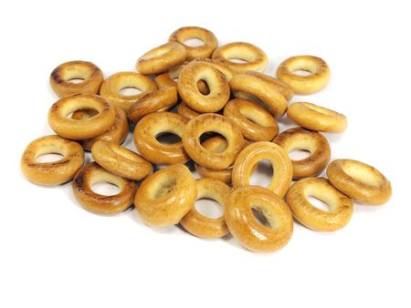 Ring bagels  on a white background     photo