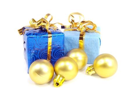 Christmas toys on a white background Stock Photo - 11347458