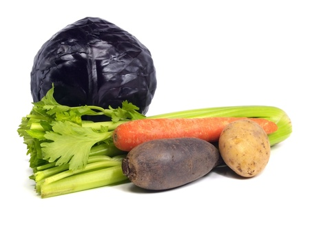 vegetable on a white background  photo