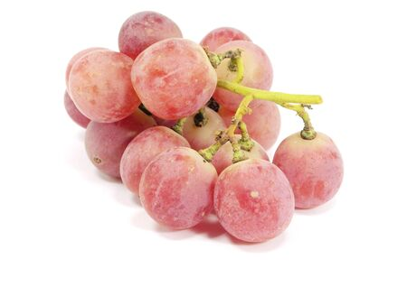 bunch of red grapes on a white background photo