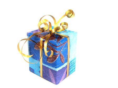 gift boxes decorated with ribbon on a white background. Stock Photo - 13102022