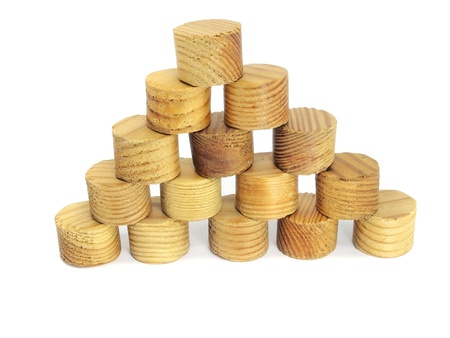 toy blocks pyramid on a white background Stock Photo - 13209086
