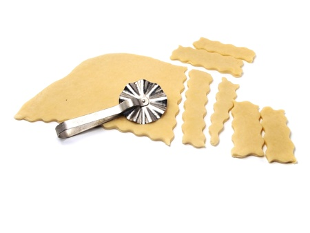 dough for cookies on a white background   photo