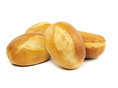 comiendo pan: Pan en un fondo blanco