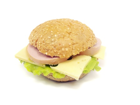 sandwich on a white background Stock Photo - 13801349
