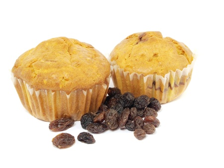 Homemade Muffin on a white background    photo