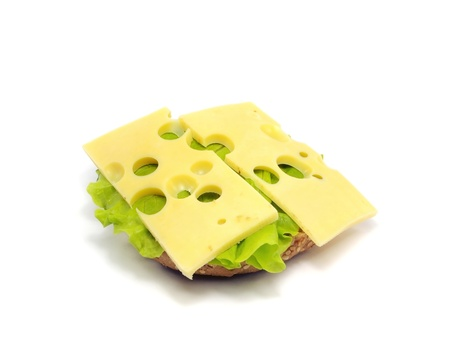 sandwich on a white background Stock Photo