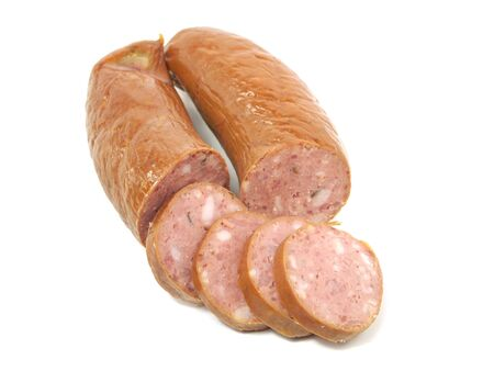 wurst on a white background photo