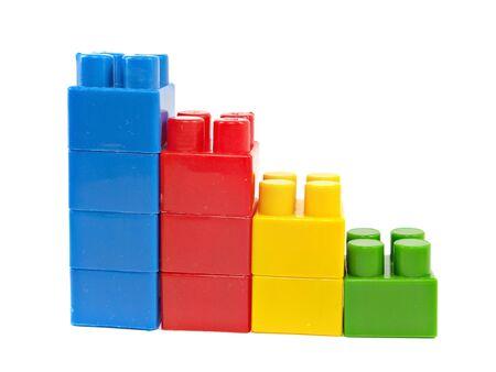 diagrama de bloques de construcción hechos de plástico sobre un fondo blanco Foto de archivo - 15554495