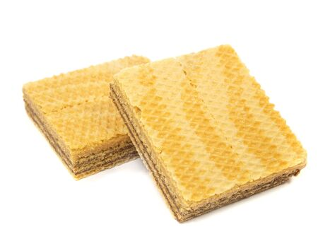 wafers on a white background           photo