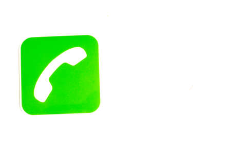 Phone call icon on background with copy space.