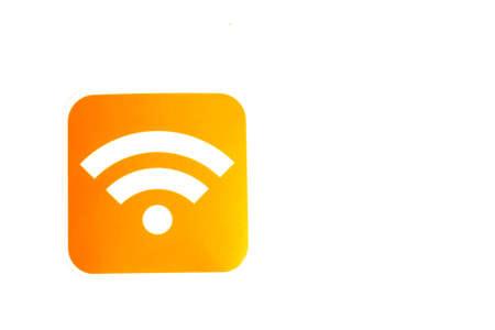 Wifi logo with copy space on white background. Reklamní fotografie