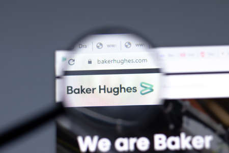 New York, USA - 15 February 2021: Baker Hughes Company website in browser with , Illustrative Editorial