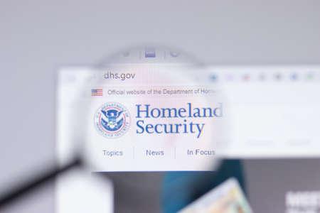 New York, USA - 26 April 2021: United States Department of Homeland Security DHS logo close-up on website page, Illustrative Editorial Sajtókép