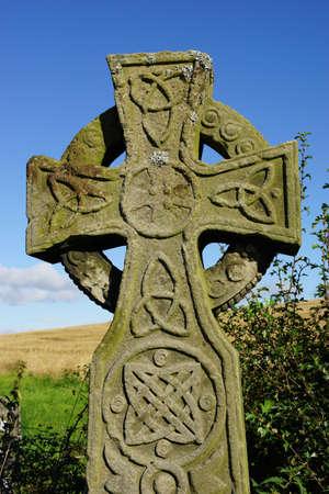 고대: 켈트 십자가 스톡 사진