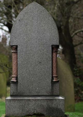 Blank Granite Tombstone   Gravestone   Headstone