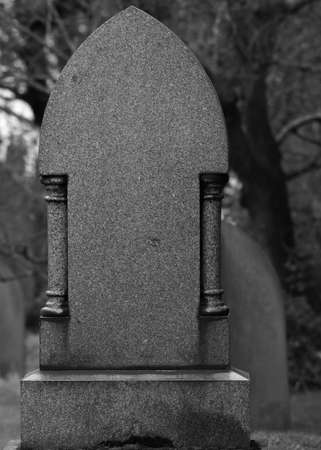 Blank Granite Tombstone   Gravestone   Headstone photo