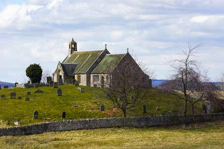 Old Scottish Church   Kirk Stock Photo