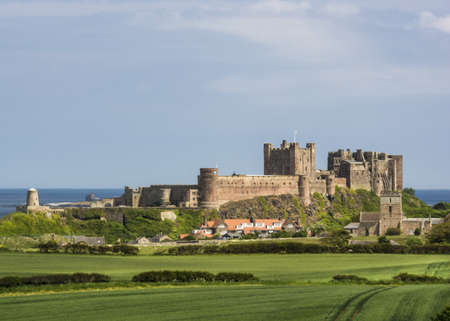 old english: Old English Castle Bamburgh  Editorial