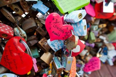 link love: lock of love, seoul tower Stock Photo