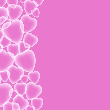 Valentines day vector background with abstract hearts