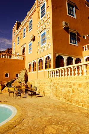 Terrace and swimming pool from a Riyad in Morocco