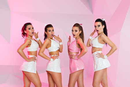 sexy girls posing Banco de Imagens