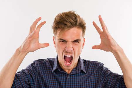 man in a rage