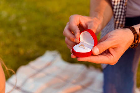proposal: man making a proposal of marriage to his girlfriend